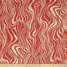 Pinkish Red Outdoor Zebra Animal Print Guzzo Autumn Red Swavelle Mill Creek Fabric