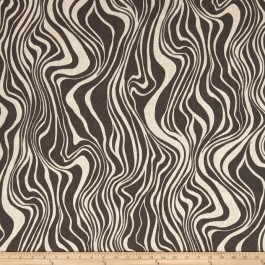 Brown Black Outdoor Zebra Animal Print Guzzo Blackout Swavelle Mill Creek Fabric