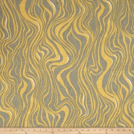 Yellow Taupe Outdoor Zebra Animal Print Guzzo Burnished Swavelle Mill Creek Fabric