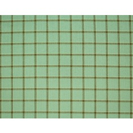 Light Grey Blue Brown Plaid Upholstery Mecca Mint Swavelle Mill Creek Fabric