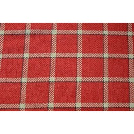 Red Tan Plaid Upholstery Mecca Vermillion Swavelle Mill Creek Fabric
