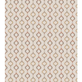 Pink Gold Embroidered Geometric Philomena Capri Swavelle Mill Creek Fabric