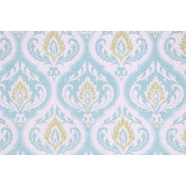 Turquoise Green Damask Print Rubina Lagoon Swavelle Mill Creek Fabric
