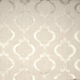 Taupe Geometric Curtain Sweep Linen Swavelle Mill Creek Fabric