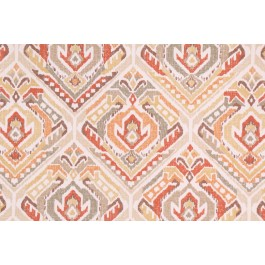 Red Orange Tan Medallion Print Tombo Mustard Seed Swavelle Mill Creek Fabric