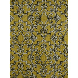 Gold Scroll Damask Upholstery Treillage Goldenrod Swavelle Mill Creek Fabric