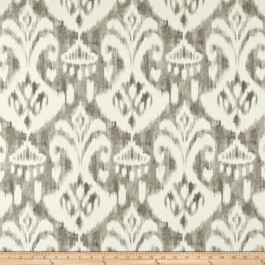 Tan Ikat Damask Print Voisey Driftwood Swavelle Mill Creek Fabric