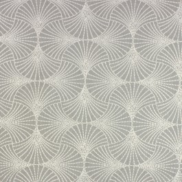 Downing Sterling Grey Embroidered Geometric Starburst Richloom Fabric