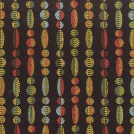 Abacus Black Multicolored Contemporary Geometric Jacquard Upholstery Regal Fabric