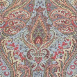 Annaleigh Azure Blue Multicolored Soft Touch Paisley Upholstery Regal Fabric