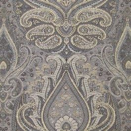 Annaleigh Smoke Grey Multicolor Soft Touch Paisley Upholstery Regal Fabric