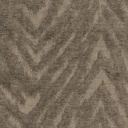 Benson Musk Brown Tiger Flamestitch Soft Chenille Upholstery Regal Fabric