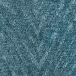 Benson Teal Blue Green Tiger Flamestitch Soft Chenille Upholstery Regal Fabric