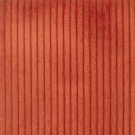 Cab Persimmon Orange Red Velvet Corduroy .25 Inch Cord Upholstery Regal Fabric