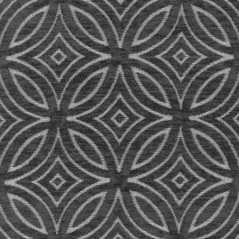 Concord Charcoal Dark Grey Diamond Circle Textured Chenille Geometric Upholstery Regal Fabric