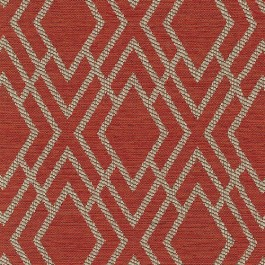 Dana Bittersweet Red Geometric Diamond Textured Upholstery Regal Fabric