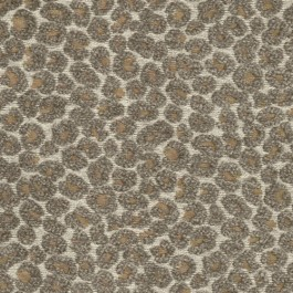 Hutton Truffle Taupe Textured Chenille Leopard Upholstery Regal Fabric