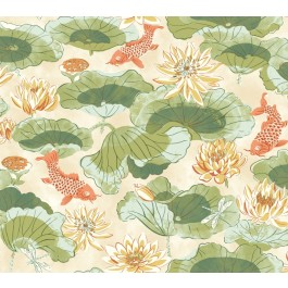 WC7562 Waverly Classics Volume II Lotus Lake Wallpaper
