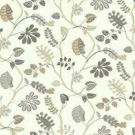 WP2403 A New Leaf Taupe Grey Small Prints Leafy Floral Waverly York Wallpaper