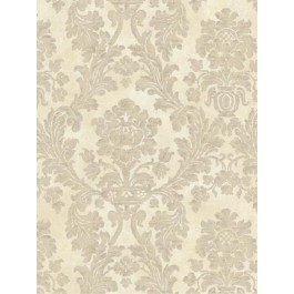 DRT13586 Cream Tan Damask EasyWalls Wallpaper