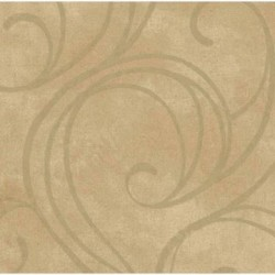 HAV40804 Beige Velvet Swirls Wallpaper