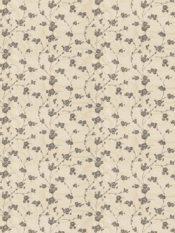 Exquisite Reeves Floral Pewter Fabric
