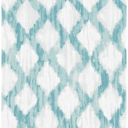 NU2923 Teal Floating Trellis Peel And Stick Kelly Ripa Brewster Wallpaper