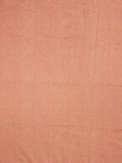 Striking Ostrich Dots Coral Fabric