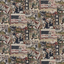 1013 Football Fabric by Charlotte Fabrics