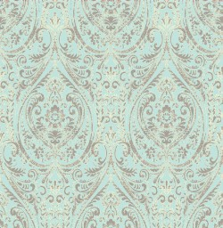 Gypsy Turquoise Damask Wallpaper