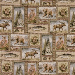 1024 Woodland Fabric by Charlotte Fabrics