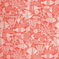 Fish Tale IO Coral Red RM Coco Fabric