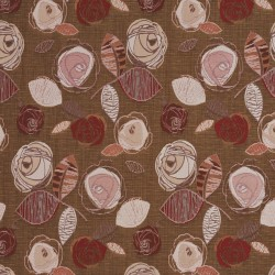 1376 Rosewood Bloom Fabric by Charlotte Fabrics
