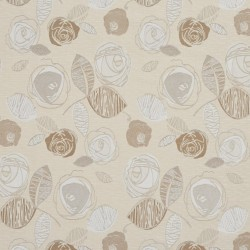 1377 Natural Bloom Fabric by Charlotte Fabrics