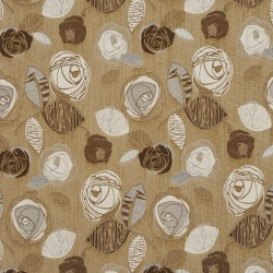 1379 Sand Bloom Fabric by Charlotte Fabrics