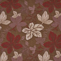 1392 Rosewood Leaf Fabric by Charlotte Fabrics