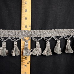 BF 4005 49 Grey Tassel Trim