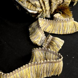 BF4004 Citrine Grey Gold Brush Fringe