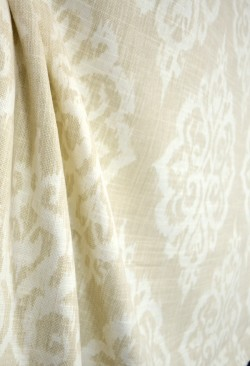 Large Ikat Damask Print Fabric Tangier Wheat Covington