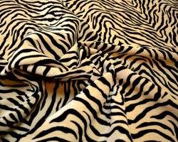 Black Cream Tiger Upholstery Fabric Chenille 1710 Shadow