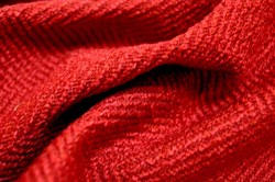 Jumper Raja Red Herringbone Fabric