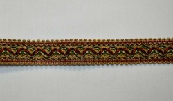 1397 Red Gold Flat Braid Trim