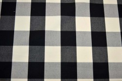 Squared Black Cream Sheldon Barnett Fabric