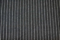 Metro Stripe White On Black Laura Kiran Fabric