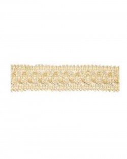 .625 Inch Ivory Flat Gimp Braid Fira 30 Flat Braid Europatex Trim