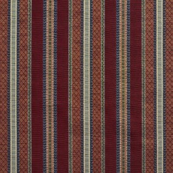 1985 Merlot Stripe Fabric by Charlotte Fabrics