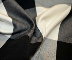 Checkmate Black Cream Sheldon & Barnett Fabric
