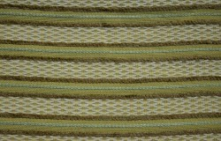 REMNANT Green Brown Stripe Fabric 57 inches x 5.75 yards