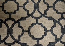 Fretwork Slate Blue Richloom Fabric