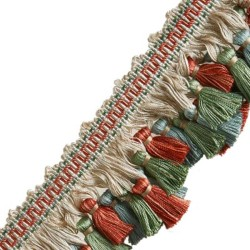 03944 Green Blue Pink Tassel Jaclyn Smith Trim
